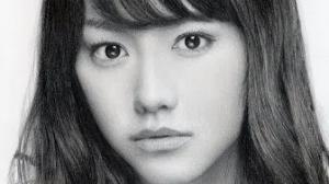 鉛筆画_桐谷美玲